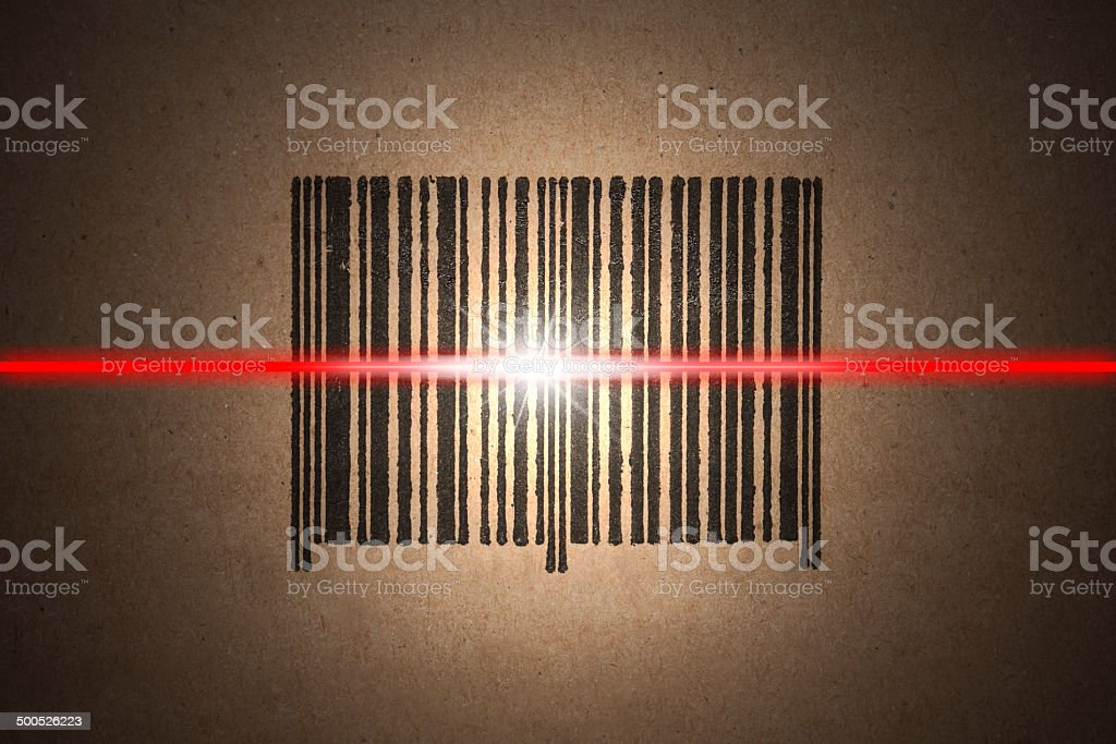 barcode scanning stock photo