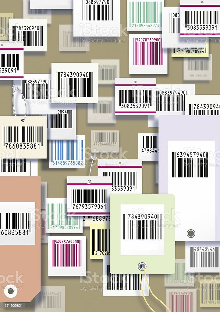 barcode wallpaper royalty-free stock photo