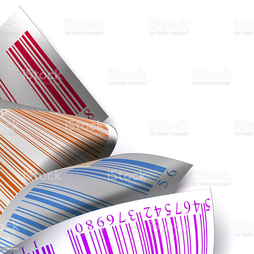 barcodes sticker label over white background royalty-free stock photo