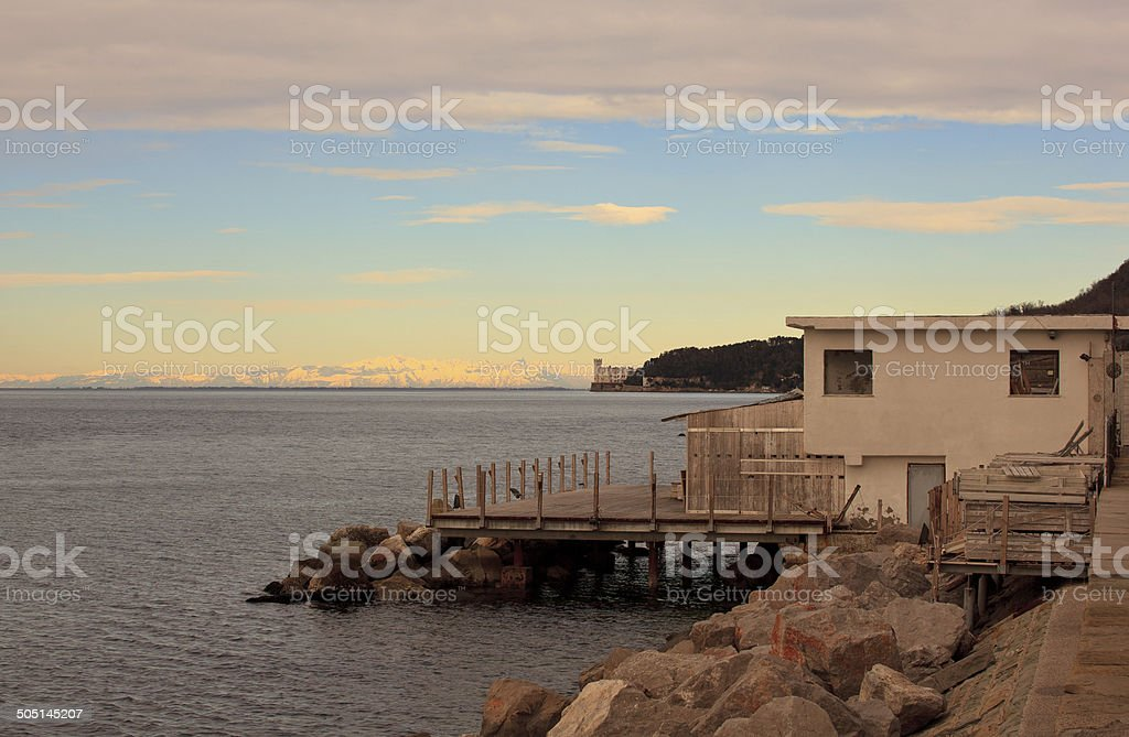 Barcola, Trieste royalty-free stock photo