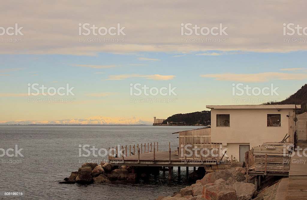 Barcola, Trieste royalty-free stock photo