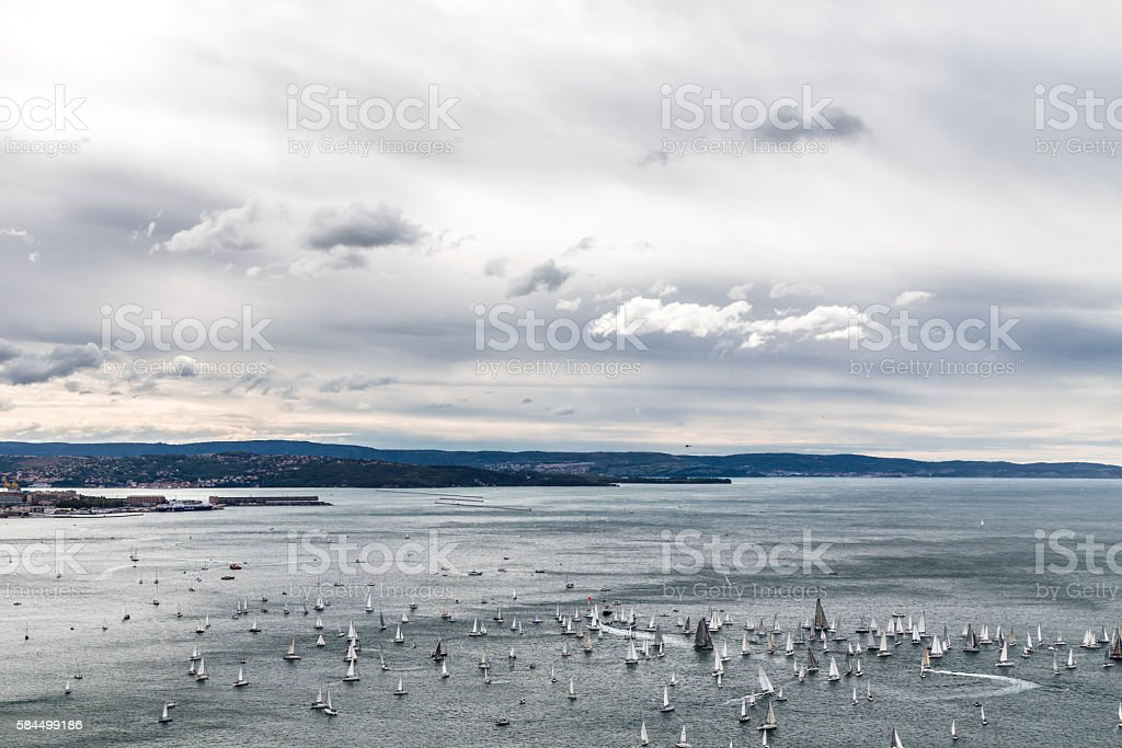 Barcolana regatta of Trieste stock photo