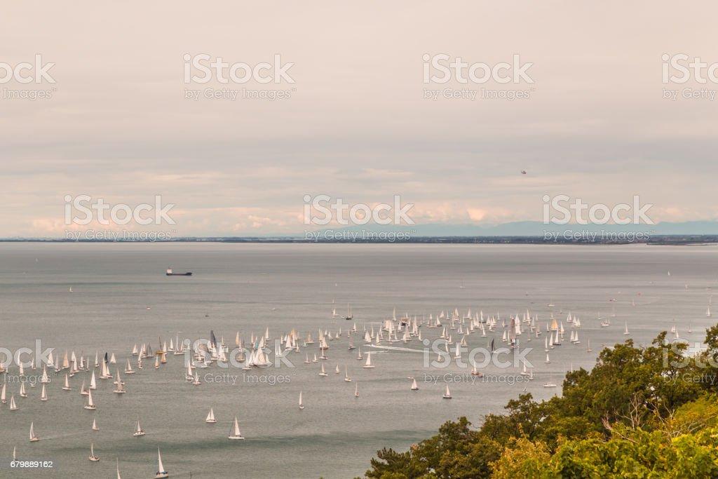 Barcolana regatta of Trieste stock photo
