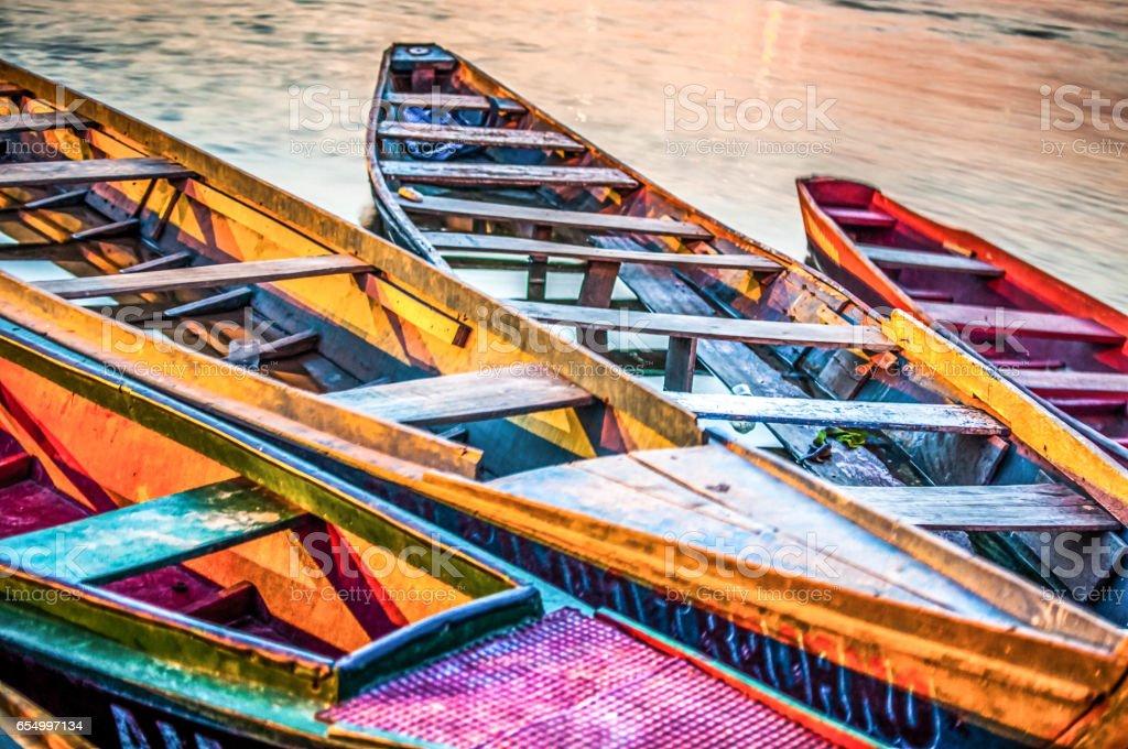 Barcos no Rio Tocantins stock photo