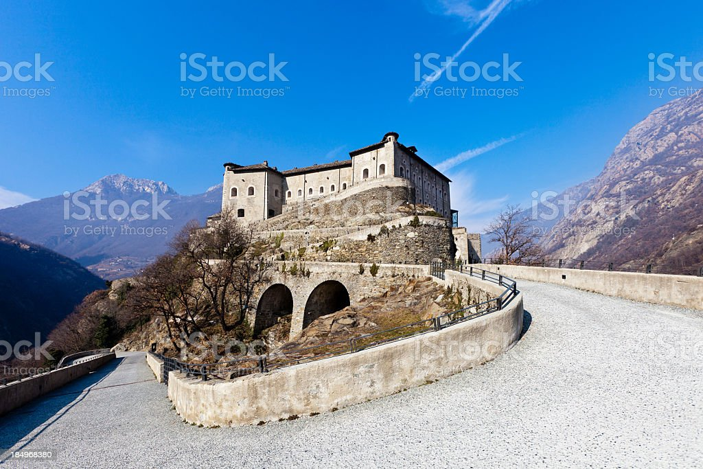 Bard Fortress, Valle d'Aosta, Italy royalty-free stock photo