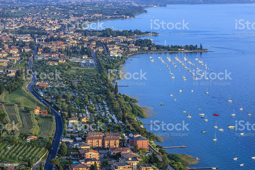 Bardolino From Above, Lake Garda royalty-free stock photo