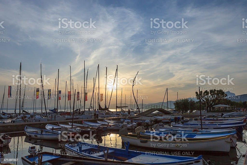 Bardolino Harbor, Italy royalty-free stock photo
