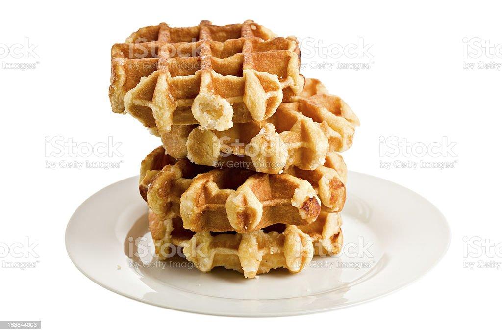 Bare Belgian Waffles stock photo