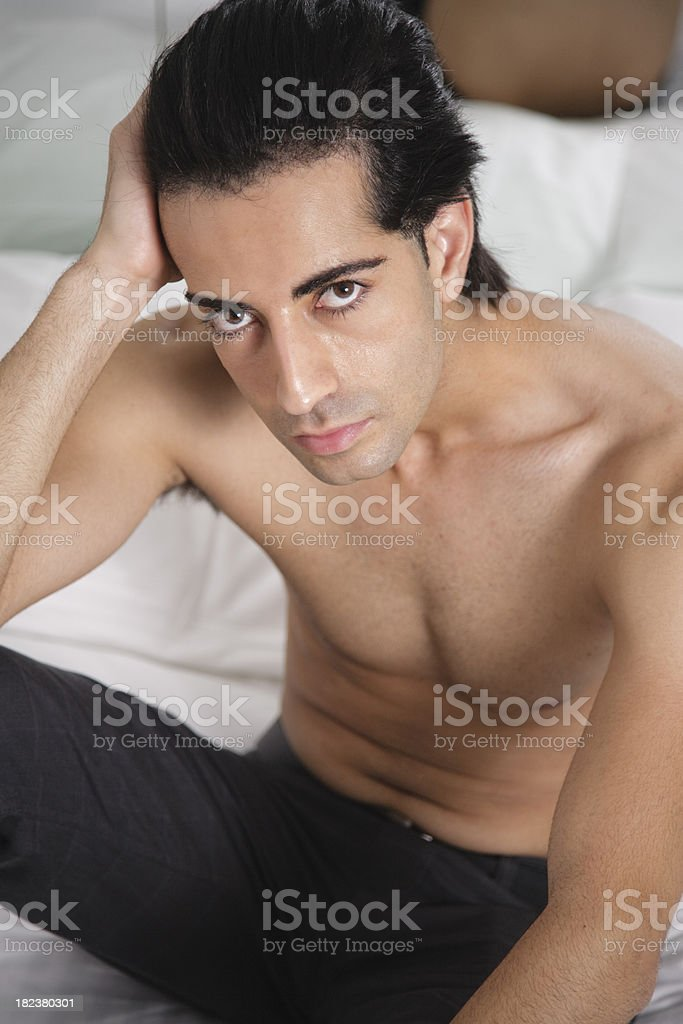 Bare Chested Man stock photo