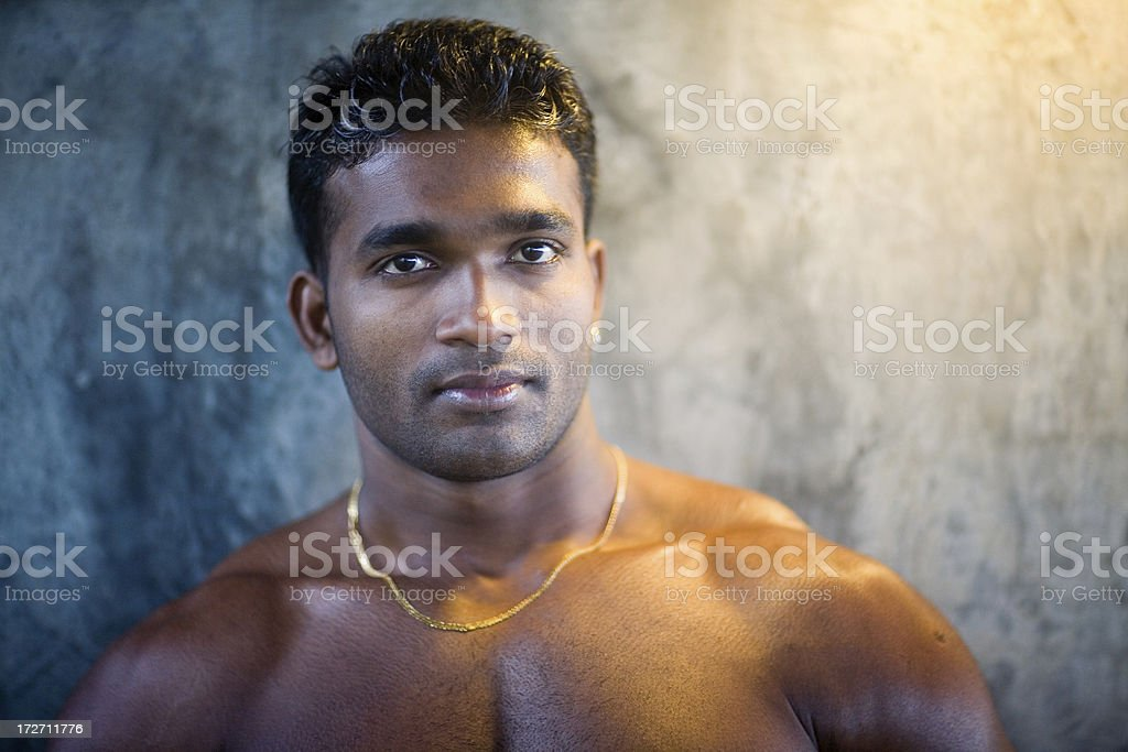 bare chested sexy male portrait royalty-free stock photo
