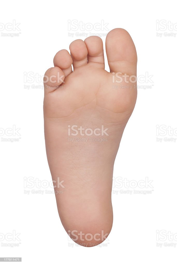 Bare foot child royalty-free stock photo