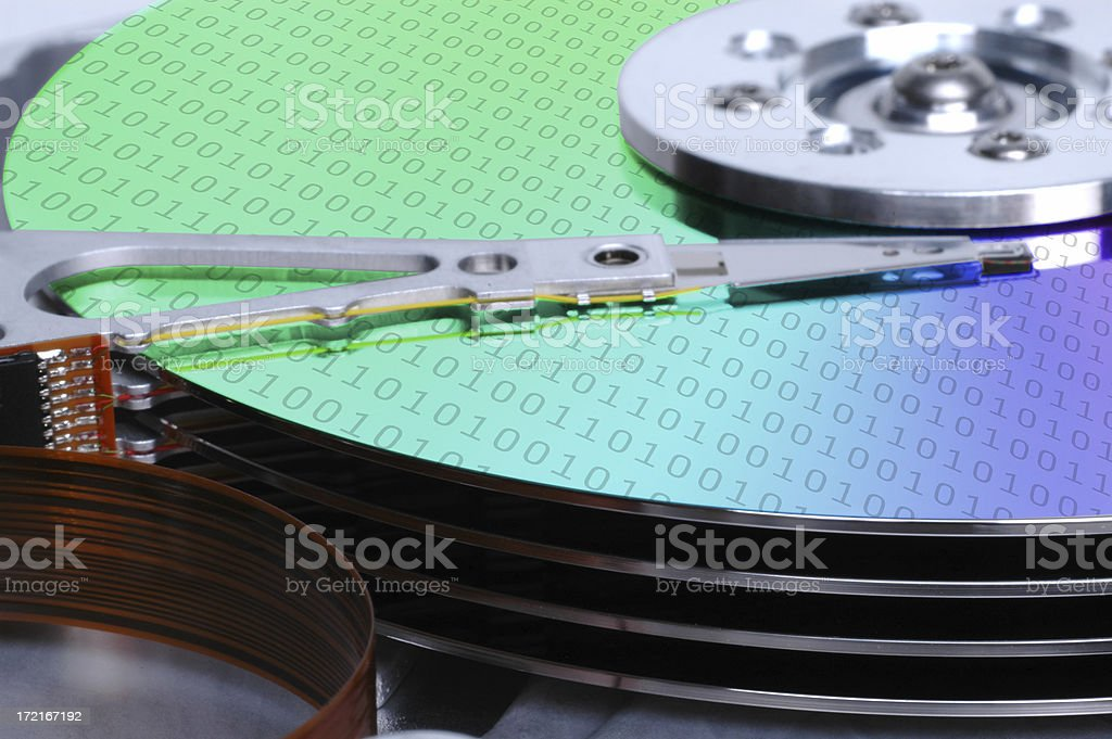 bare hard drive (5) stock photo
