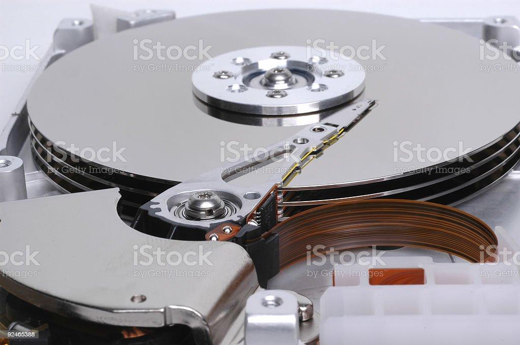 bare hard drive (3) stock photo