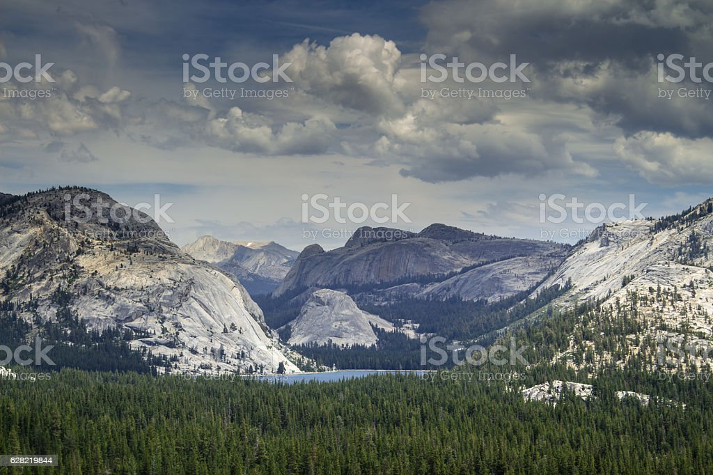 Bare Mountains in Yosemite Valley stock photo