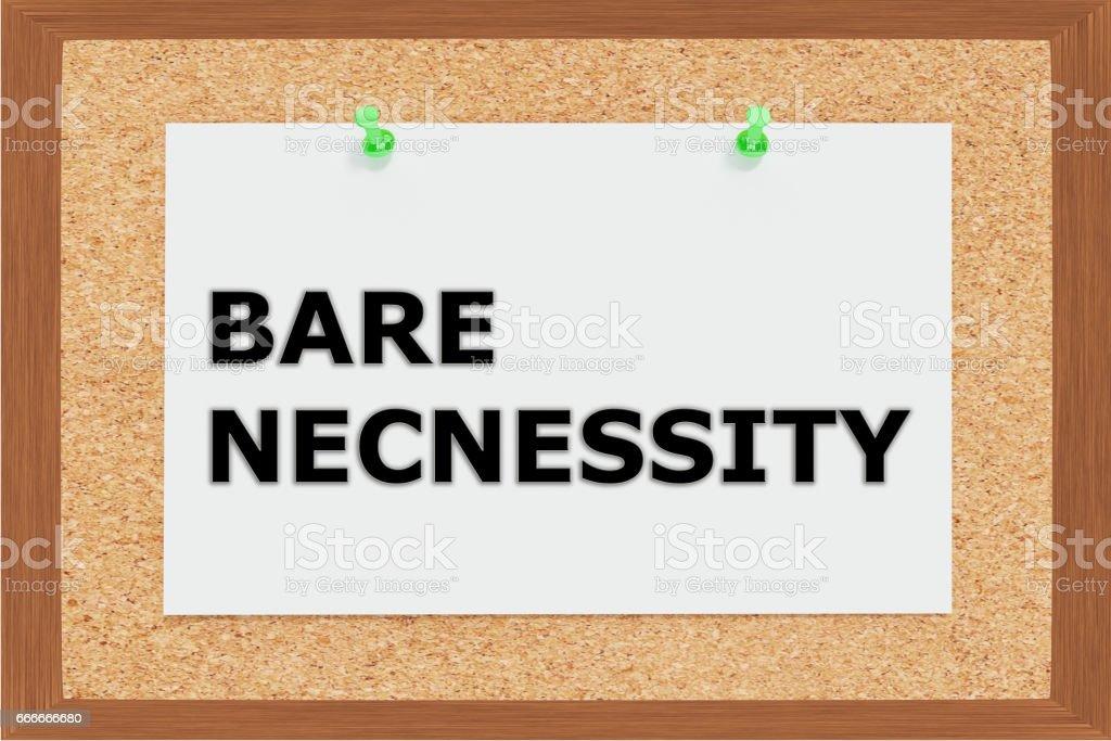 Bare Necessity concept stock photo