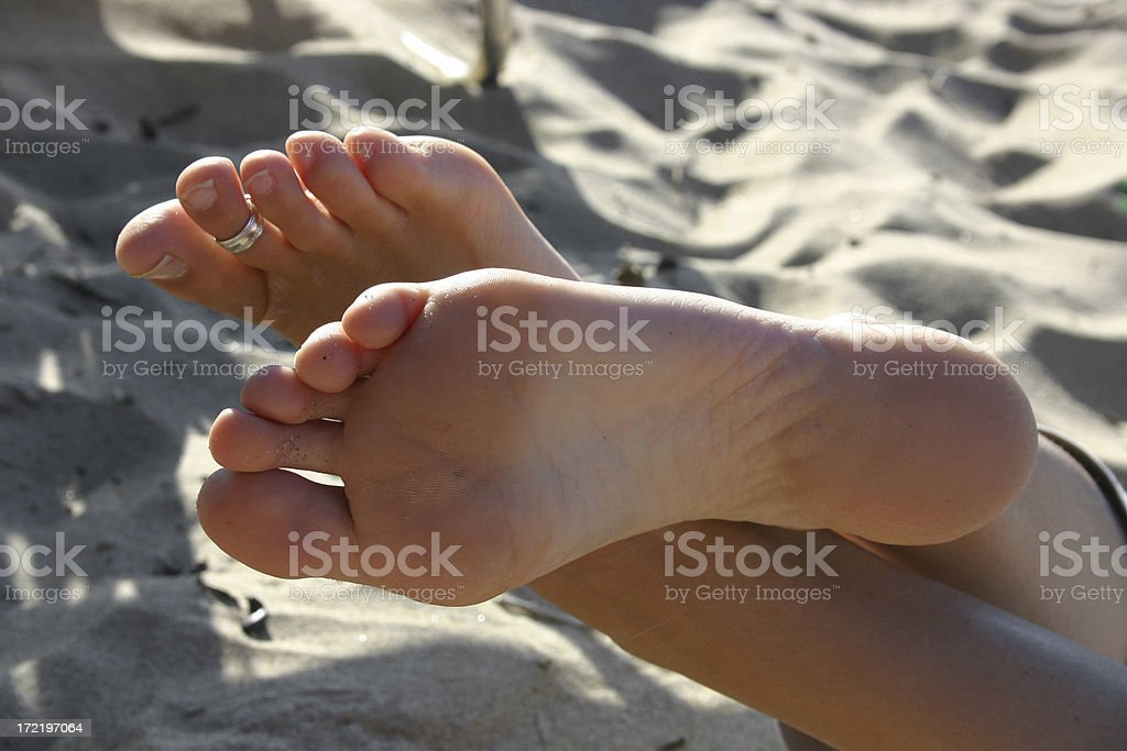 bare_sole_beach stock photo