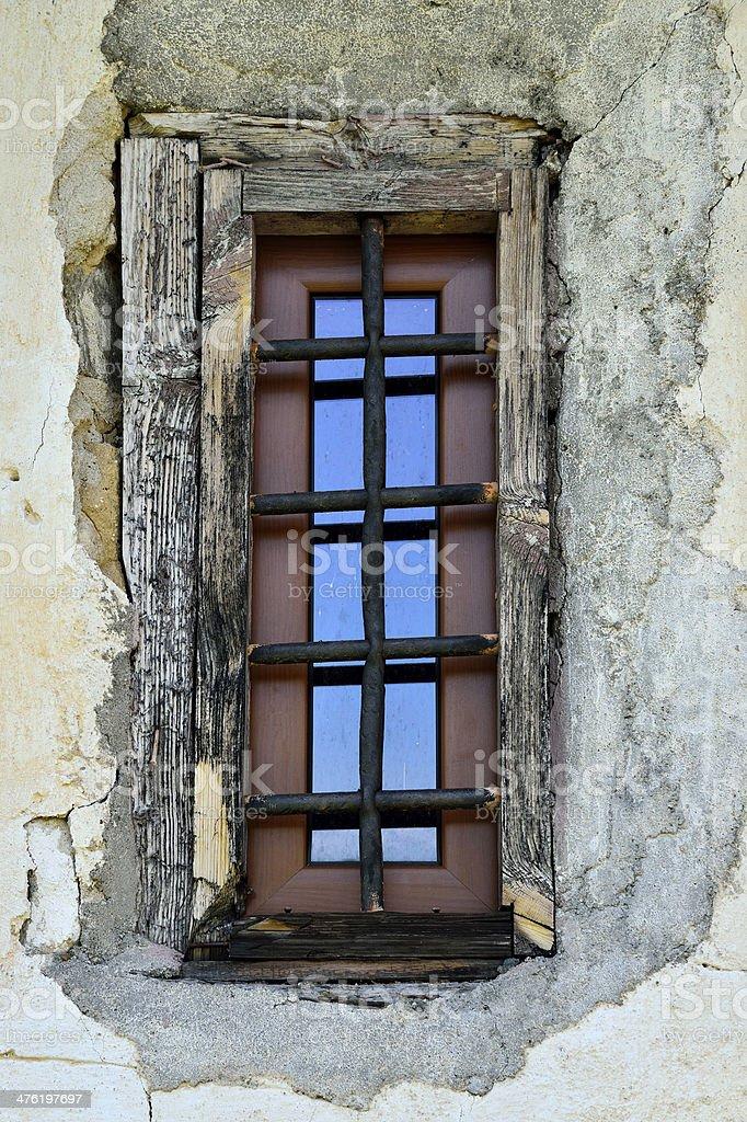 Bared Window stock photo