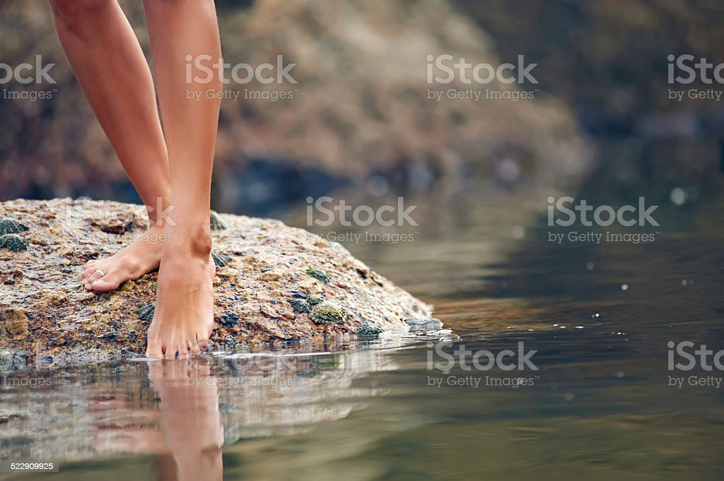barefeet beauty stock photo