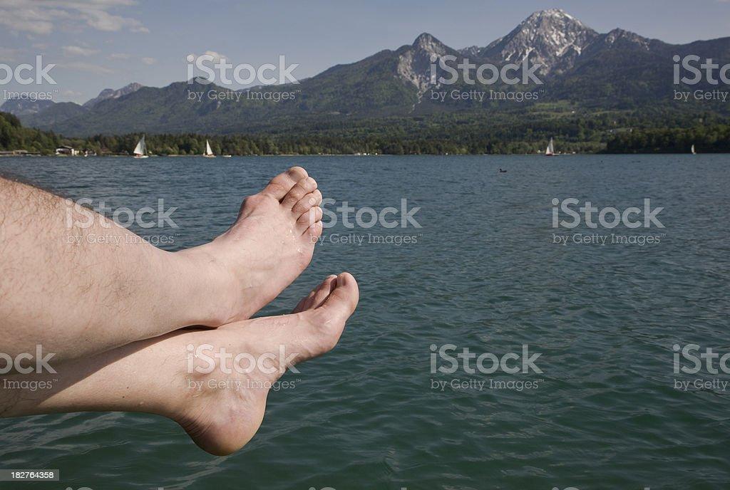 barefoot at the lake royalty-free stock photo