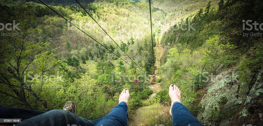 Barefoot In Kentucky Mountain Panorama stock photo