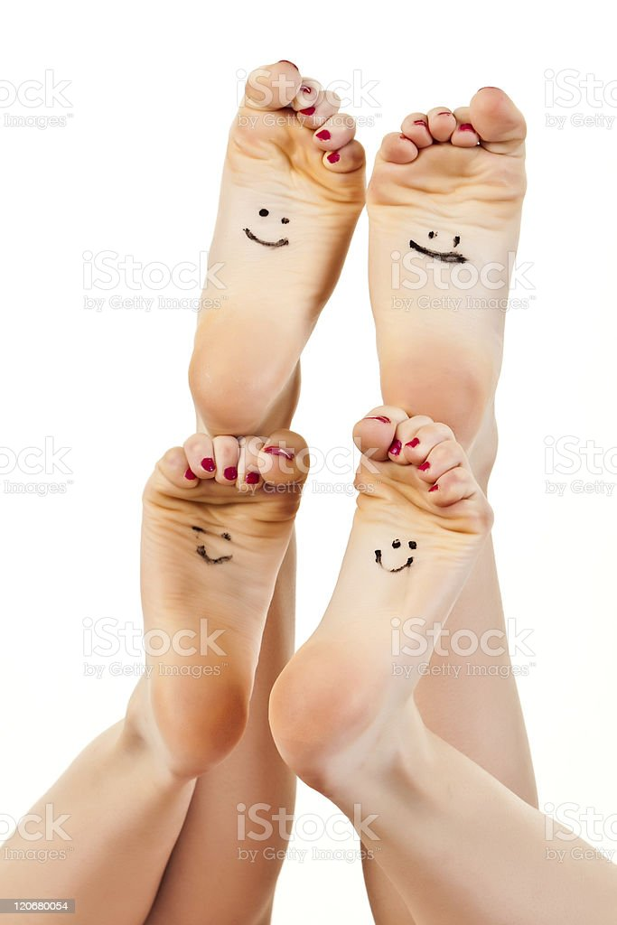 Barefoot royalty-free stock photo