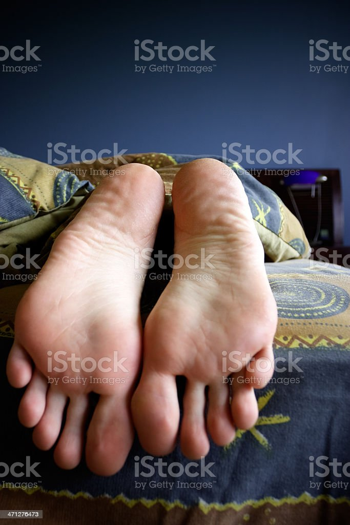 Barefoot royalty-free stock photo
