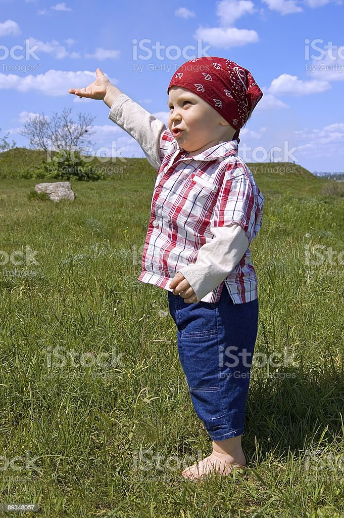 barefooted baby boy royalty-free stock photo