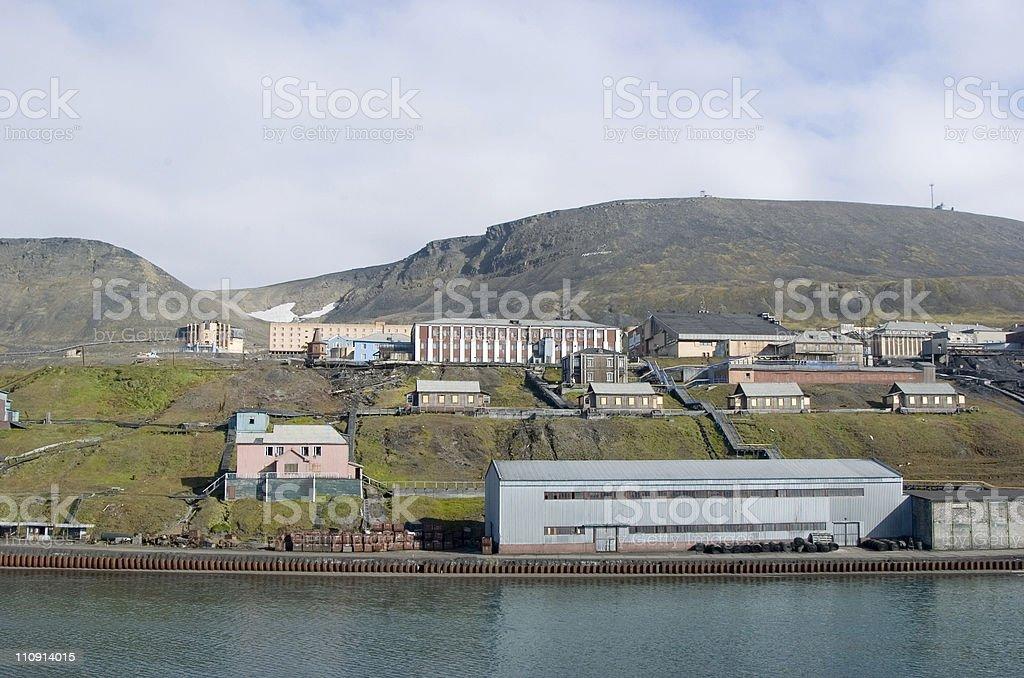 Barentsburg stock photo