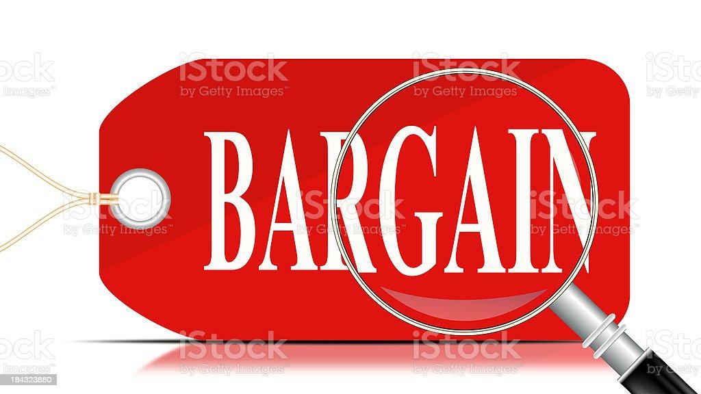 Bargain Search | Pricetag stock photo