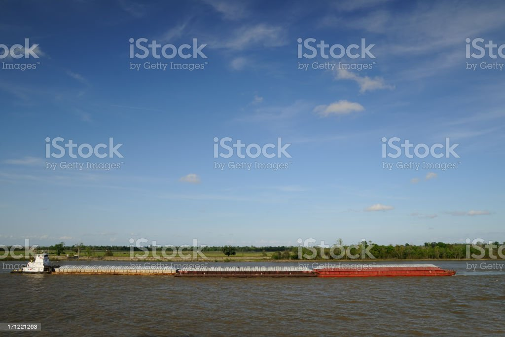 Barge at river royalty-free stock photo