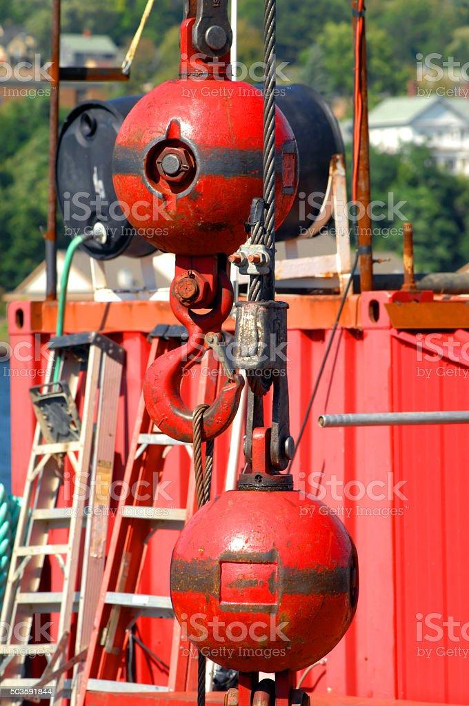 Barge Begins Repair stock photo