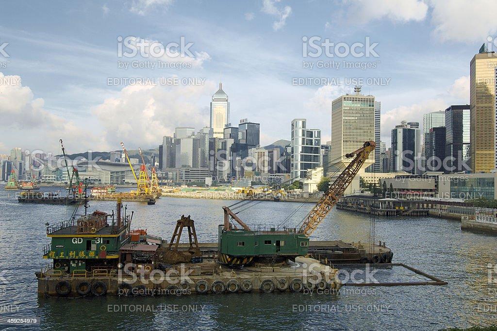 Barge in Hong Kong royalty-free stock photo