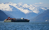 Barge in Southeast Alaska
