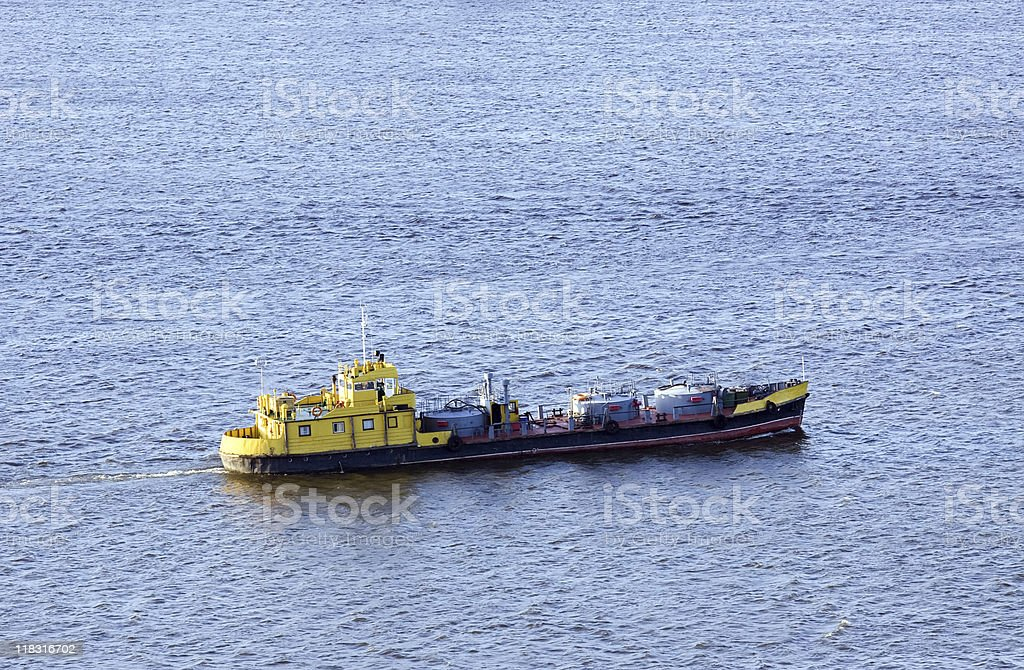 barge on the water stock photo
