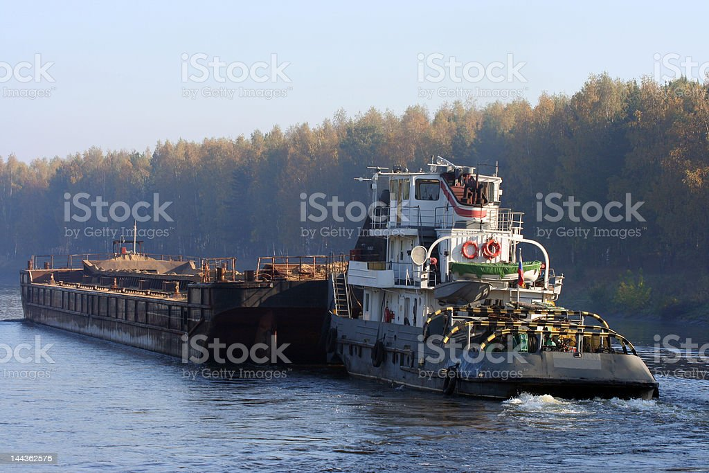 Barge royalty-free stock photo