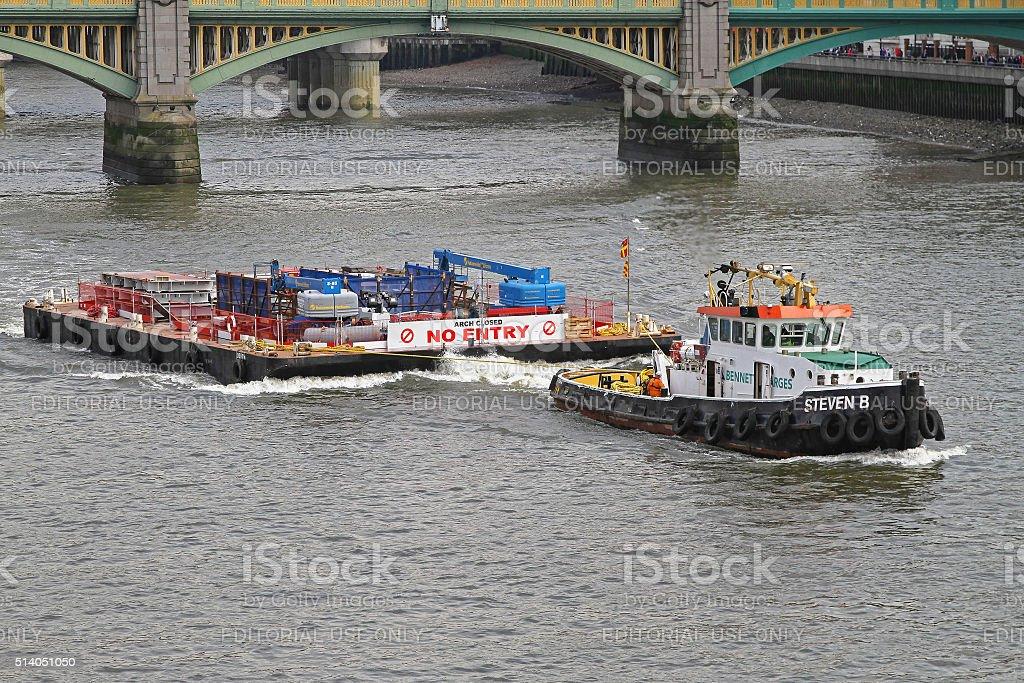 Barge Tug stock photo