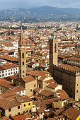 Bargello Palace and Badia Fiorentina in Florence, Italy