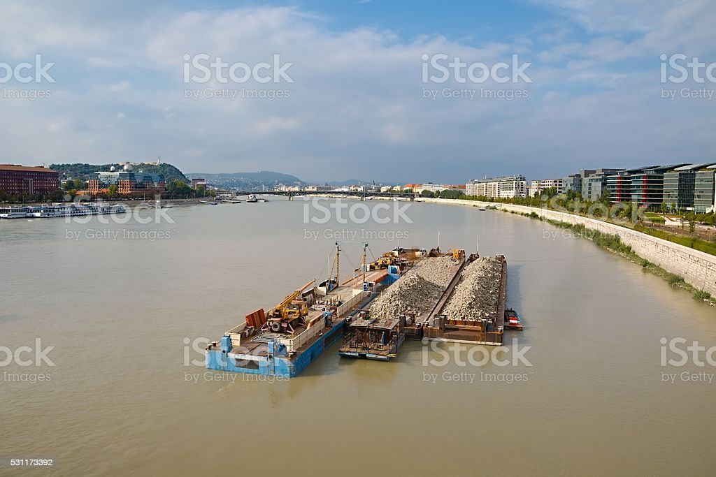 Barges stock photo