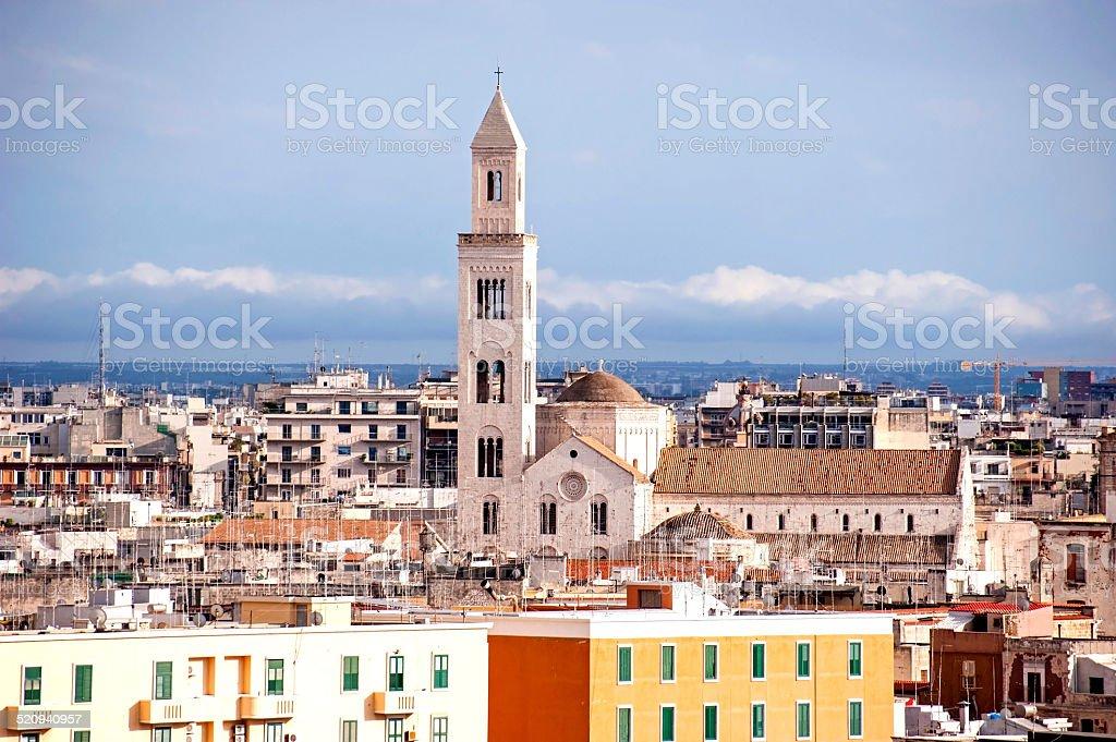 Bari skyline stock photo