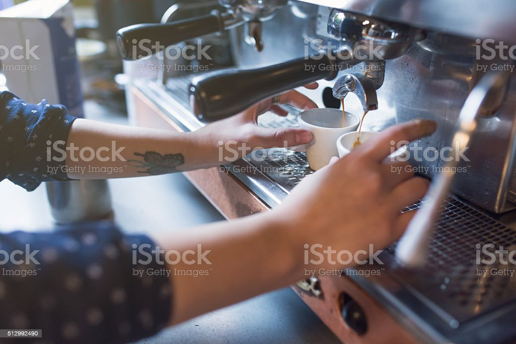 Barista At Work stock photo