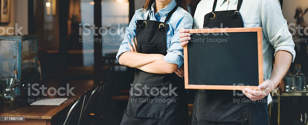 Barista Staff Working Coffee Shop Concept stock photo