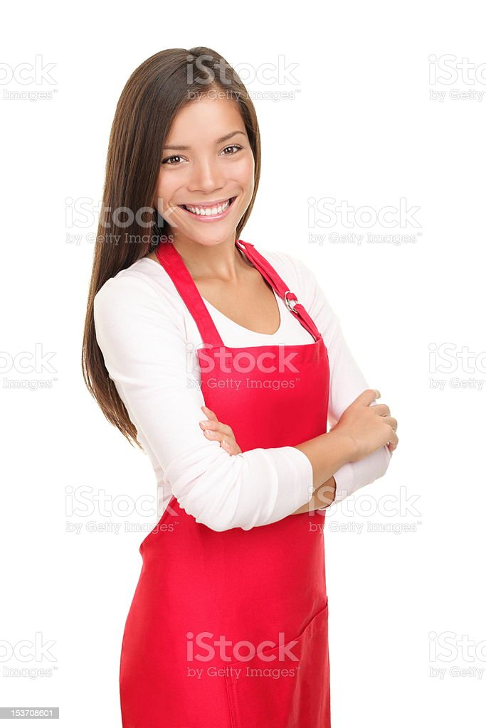 Barista woman / small shop owner portrait royalty-free stock photo