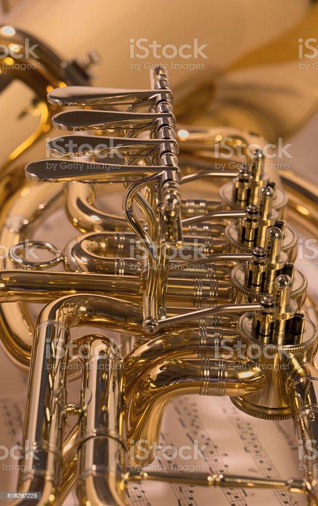 Baritone horn stock photo