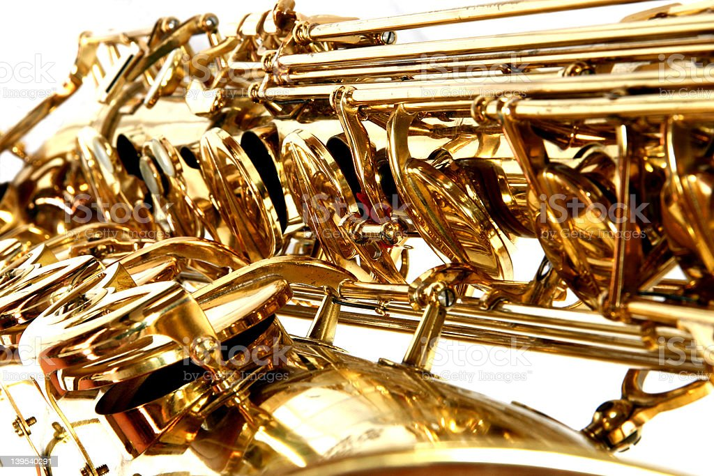 Baritone Sax (gold) stock photo