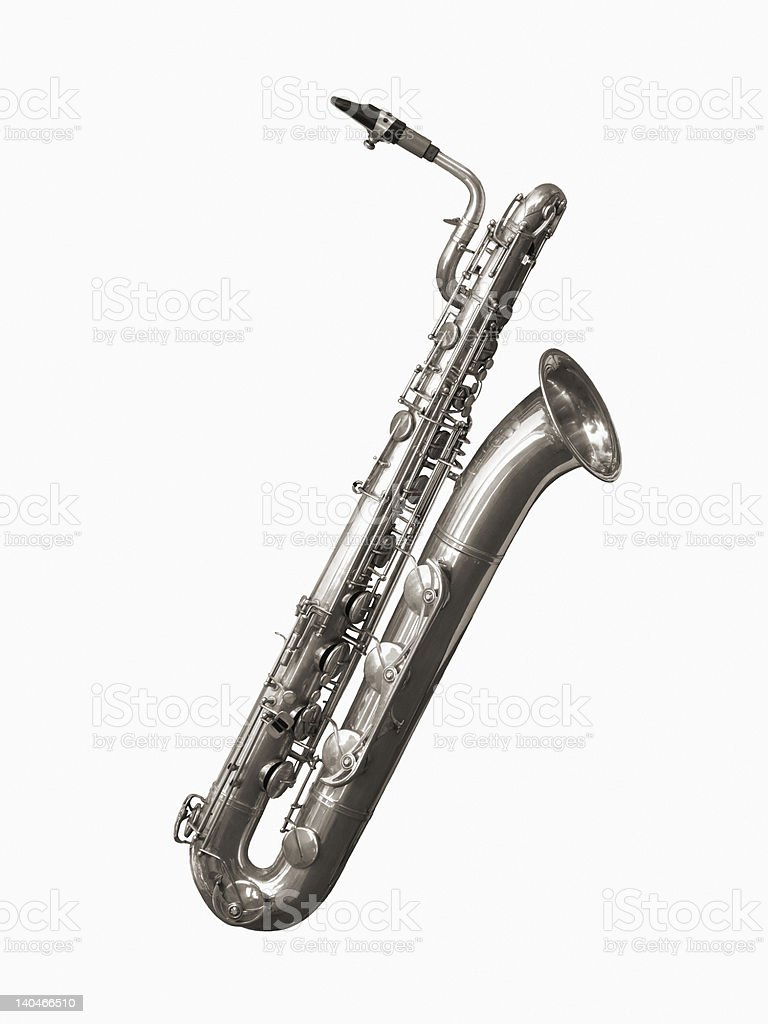 Baritone Sax stock photo