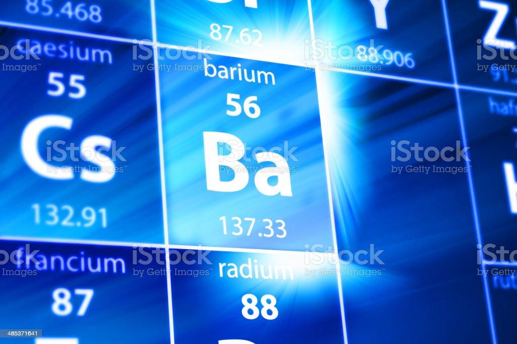 Barium Ba Periodic Table stock photo