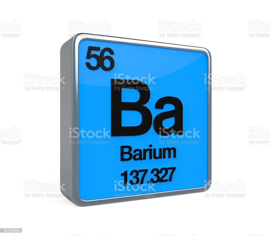 Barium Element Periodic Table stock photo