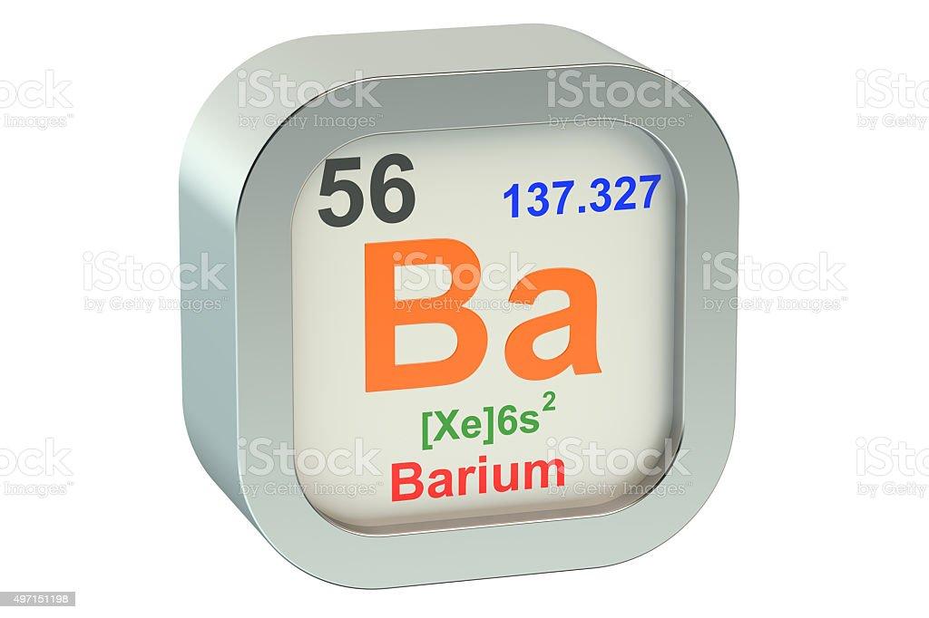 Barium stock photo