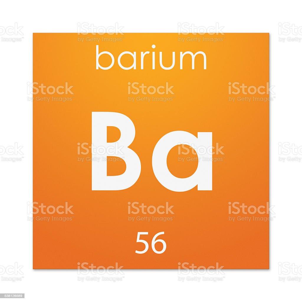 Barium (chemical element) stock photo