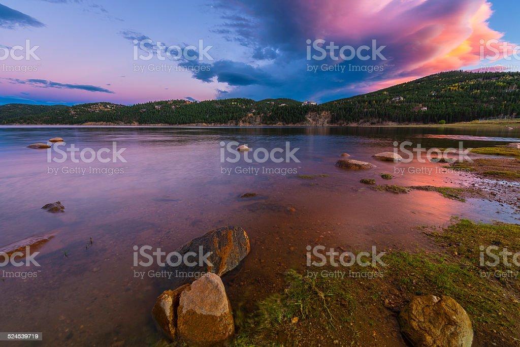Barker Meadow Reservoir stock photo